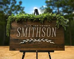 wooden wedding signs etsy - Personalized Wooden Wedding Signs