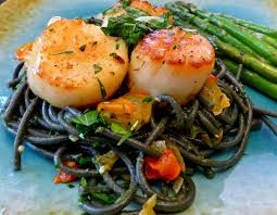recipe for squid ink pasta with scallops the solo cook youtube