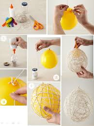 diy hanging string balls decorations decoration and craft