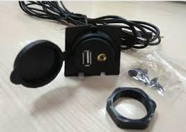 Usb Port For Car Dash 3 5mm A V Usb Extension Cable Flush Mount Set For Car Dashboard
