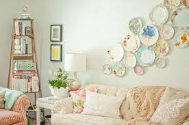 Living Room With Plate Wall Decor Decorative Plate Wall Decor