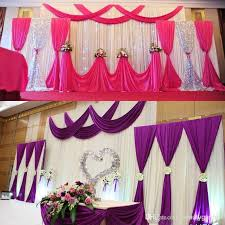 Cheap Draping Material Wedding Party Background Fabric Satin Curtain Drape Stage Wall