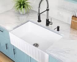Farmhouse Kitchen Faucets Kitchen Cast Iron Farmhouse Sink Stunning High Back Kitchen Sink