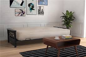 dhp furniture dhp nadine metal futon frame with espresso wood
