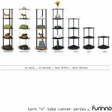 Display Shelving by Furinno 99811 Turn N Tube 5 Tier Corner Display Rack Multipurpose