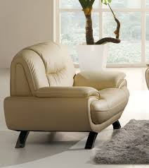 Single Living Room Chairs Living Room Looking Home Furniture Design Of White Leather
