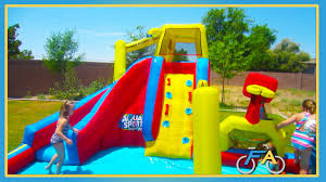 fun backyard waterslide youtube