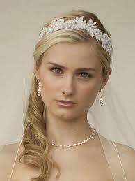 wedding headband white lace applique garden wedding headband with meticulous edging