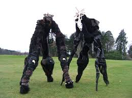 stilt costumes halloween the beast four legged stiltwalkers