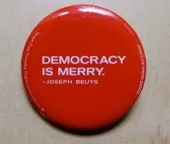 political statements free beuys and judd buttons