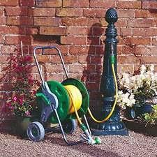 Hose Reel Solution For Yard And Garden Outdoor Faucet Extension Garden Hose Reels U0026 Storage Equipment Ebay