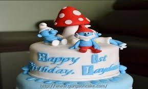 smurfs birthday cake 1426