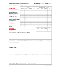 sales team report template sales report templates 10 free sle exle format