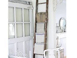 shabby chic bathroom ideas use old ladder for storage shabby chic