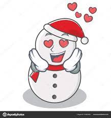 imagenes de amor con muñecos animados en estilo de dibujos animados de carácter de muñeco de nieve de amor