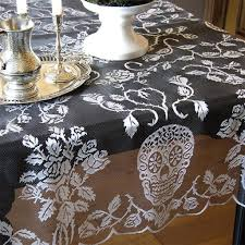 sugar skull lace table runners sin in linen