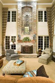 Family Room Curtains Two Story Family Room Curtains Soft Window Treatments For Two