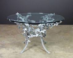 Round Table Kerman Fnplsam 3 Leg Round Table In Silver Leaf With Antique Mirror Top