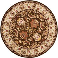 Safavieh Rooster Rug by Safavieh Newport Beige Blue 6 Ft X 6 Ft Round Area Rug Npt428a