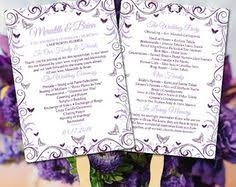 diy wedding ceremony program fans diy wedding program fan template order of service