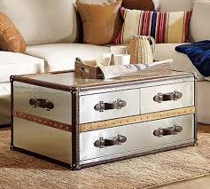 steamer trunk side table steamer trunk coffee table stainless steel