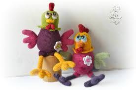 crochet amigurumi pattern crocher rooster pattern funky