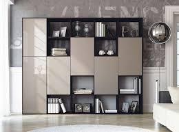 Contemporary Bookcase With Doors Modern Bookshelf With Doors Interior Barn Doors Pinterest