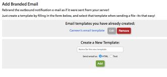 branded email setup sendthisfile