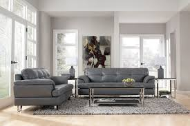 Gray Leather Sofa Endearing Gray Leather Living Room Furniture And Genuine Sofa