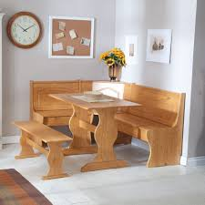 dining room furniture corner natural ash wooden bench with
