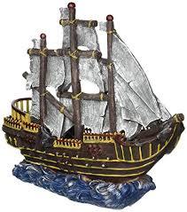 penn plax large pirate wave runner ship fish tank