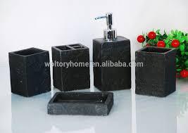artificial stone house ware bathroom bath accessories set mug