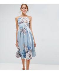 asos debutante prom dress with embellished collar and sleeves in