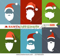 red santa hats with beards download free vector art stock
