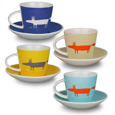 scion mr fox set of 4 espresso cup and saucers multi amazon co