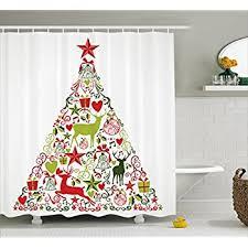 amazon com red holiday star ornaments and snowflake u0026 gray