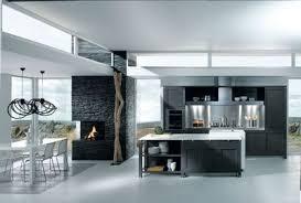 bloc central cuisine cuisine esquisse laquée carbone plan de travail îlot central en