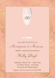 mimosa brunch invitations mimosa bridal shower invitations floral mimosa bridal brunch