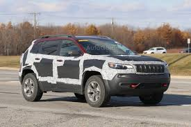 first jeep cherokee 2019 jeep cherokee trailhawk spied with updated fascia autoguide