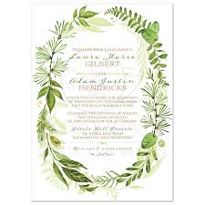 wedding invitations greenery greenery foliage wedding invitation watercolor leaves stems