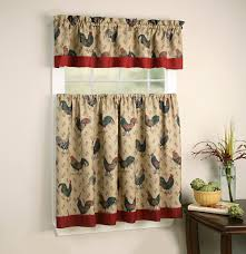 rooster themed kitchen curtains and valances sets kitchen