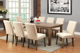 cm3554t soreen 5pc dining set in light oak w ivory fabric chairs