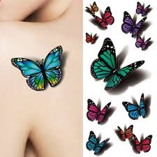 amazon com temporary butterfly tattoos free shipping 5 sheets