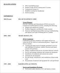 Entry Level Resumes Templates Sample Hvac Resume Template 6 Free Documents Download In Word Pdf