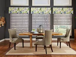 valances shades window treatment ideas dinning room window
