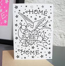 home sweet home u0027 tattoo diamante card by spdesign