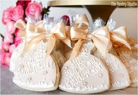 Cookie Favors by Will You Be My Bridesmaid Cookie Favors By The Pastry Studio