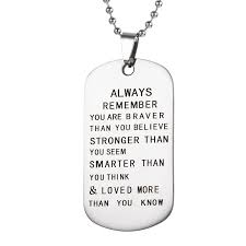Engraved Dog Tag Necklace Compare Prices On Personalized Dog Tags Men Online Shopping Buy