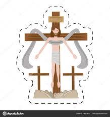 imagenes de jesucristo animado dibujos animados de jesucristo sagrado cruz vector de stock djv
