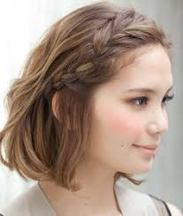 upsidedown bob hairstyles upside down french braid bun along with cute headband hairing is
